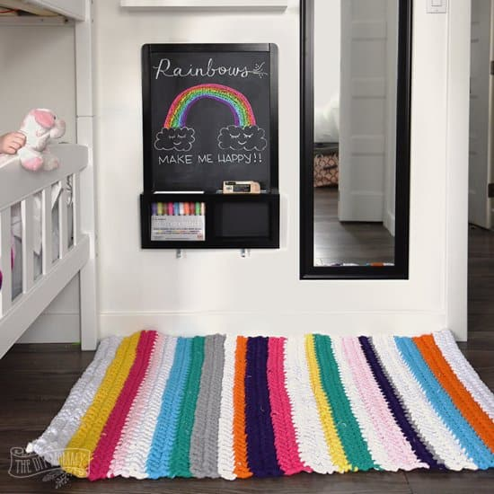 DIY Crochet T-Shirt Rug