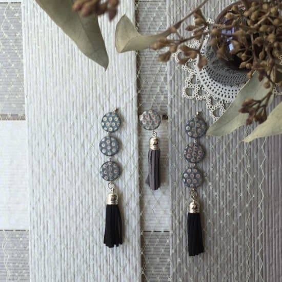 Tassel Polka Dot Earrings