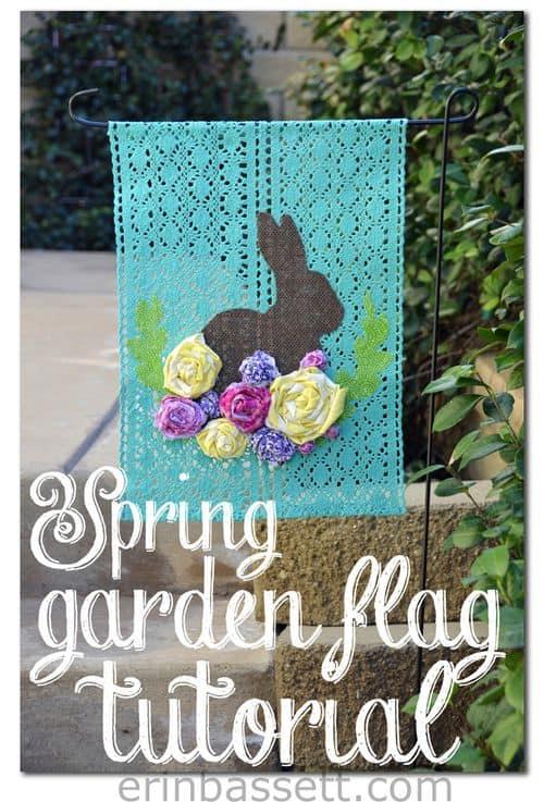 DIY Spring Garden Flag