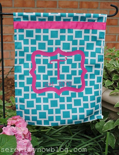DIY Monogram Garden Flag