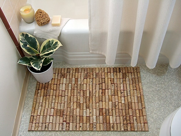 DIY Wine Cork Rug