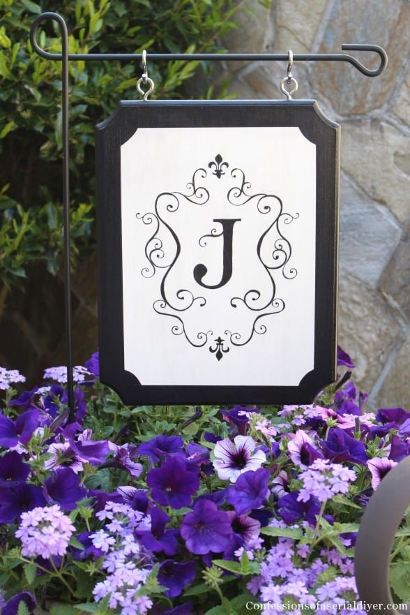 Monogrammed Outdoor Sign
