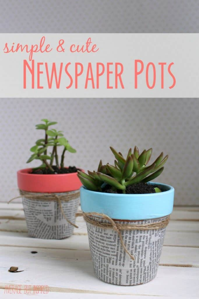 DIY Newspaper Flower Pot
