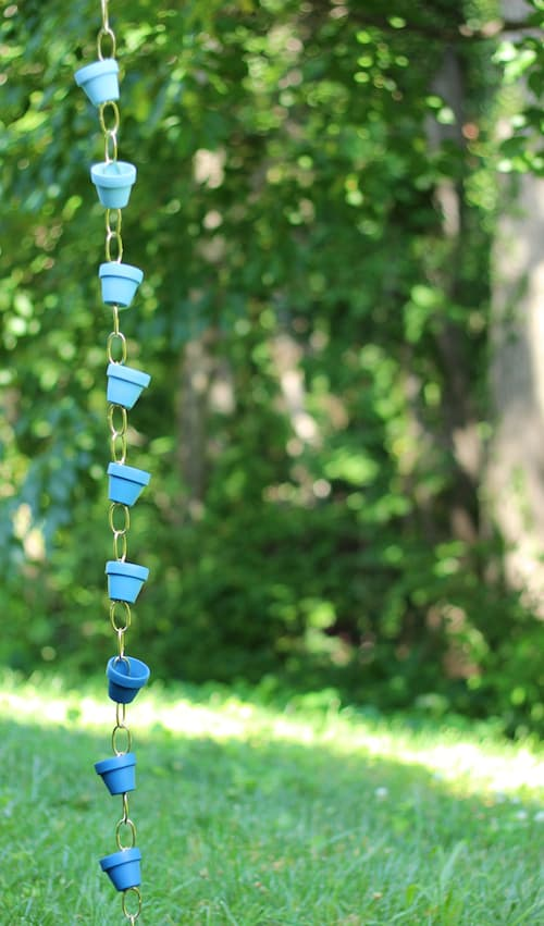 DIY Ombre Rain Chains