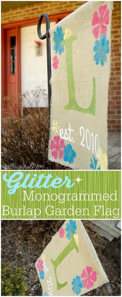 DIY Burlap Garden Flag with Heat Transfer Vinyl