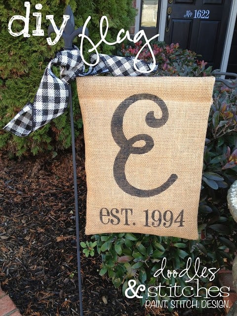Make Your Yard Pop With These 20 DIY Garden Flags • Cool Crafts
