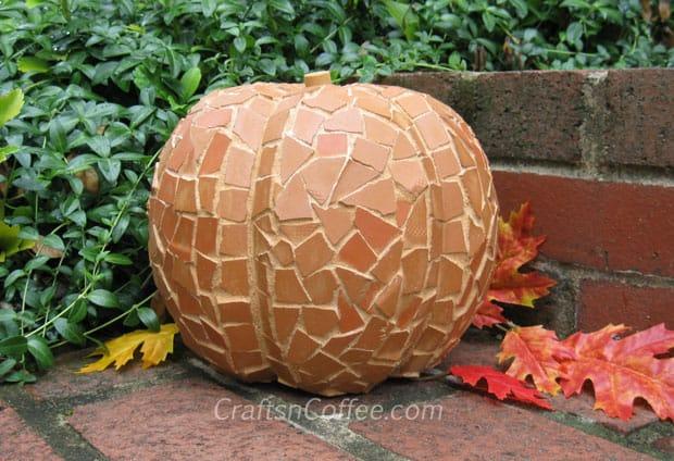 Terra Cotta MosaicPumpkin