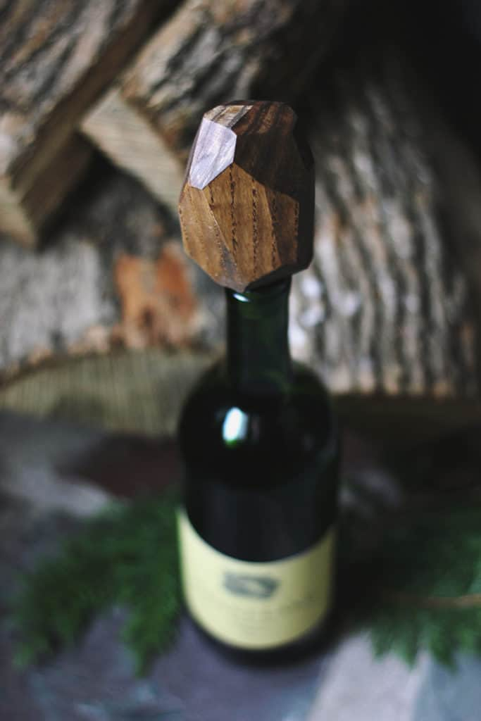 Wooden Geometric Wine Stoppers