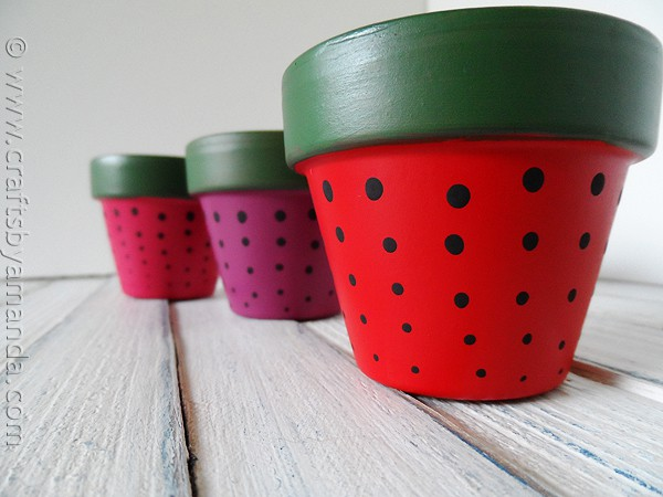 Strawberry Terra Cotta Pots