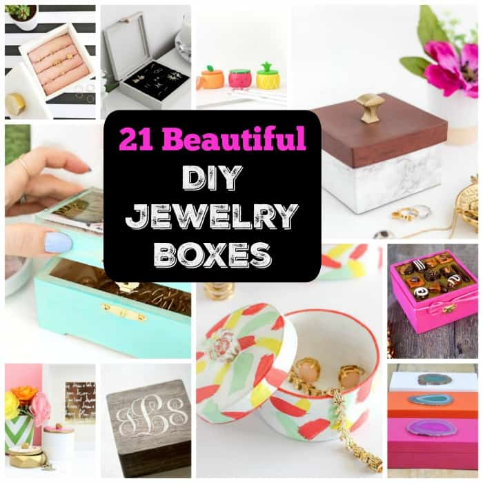 21 Beautiful \u0026 Functional DIY Jewelry Boxes \u2022 Cool Crafts