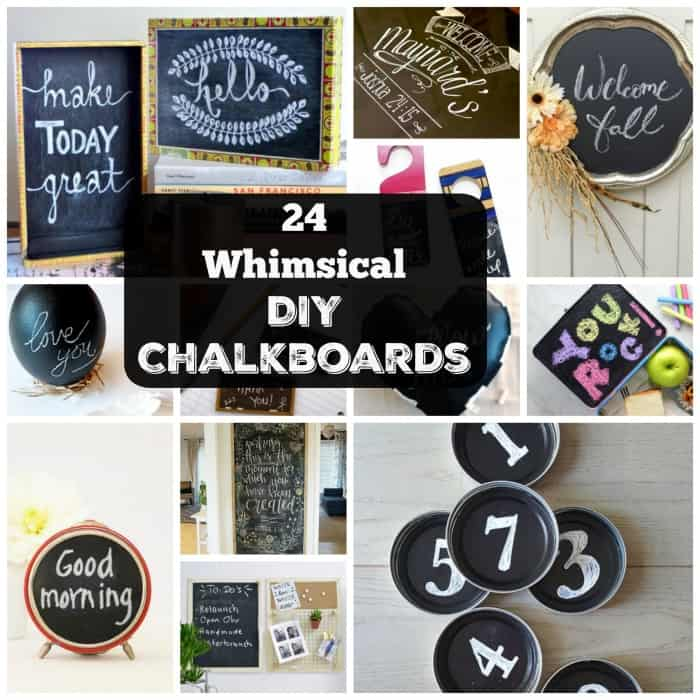 24 Whimsical Easy-to-Make DIY Chalkboards | Coolcrafts.com