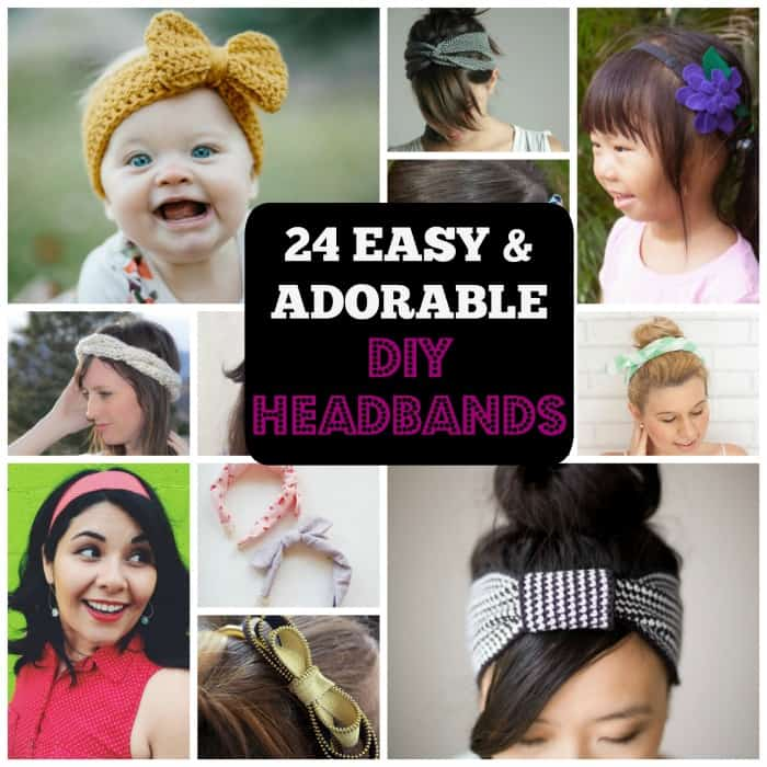 24 Adorable DIY Headbands for All Ages. | Coolcrafts.com