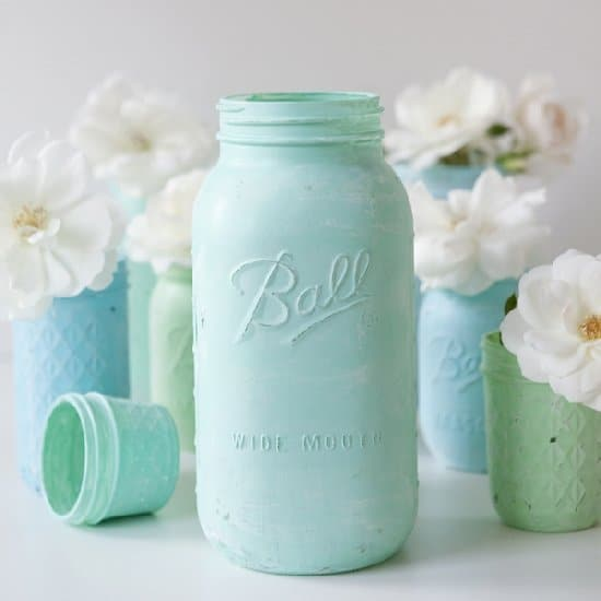 Distressed Chalkboard Mason Jars