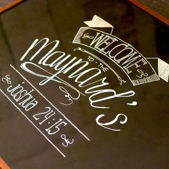 DIY Fake Chalkboard