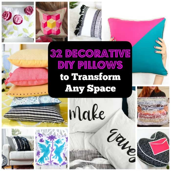 32 Decorative DIY Pillow Ideas That Will Transform Any Space. | Coolcrafts.com