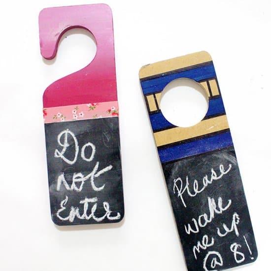 DIY Chalkboard Door Hangers