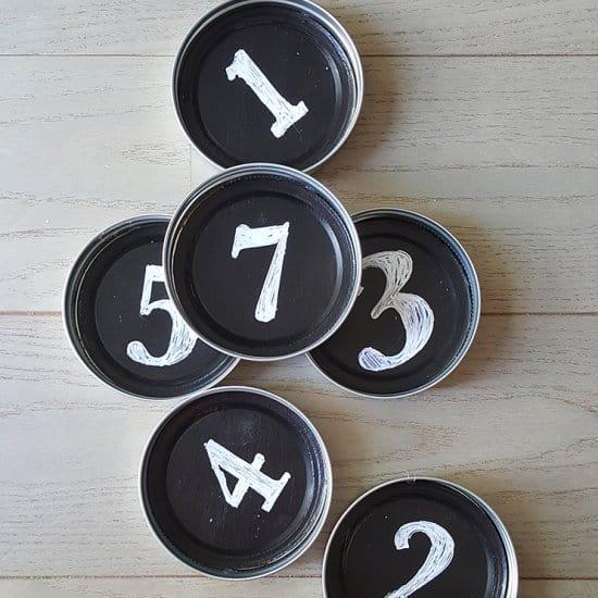 DIY Mason Jar Chalkboard Coasters