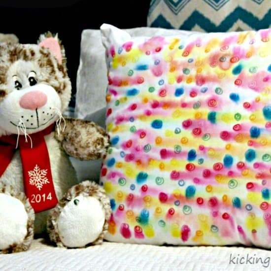 DIY Watercolor Throw Pillow
