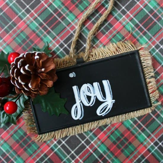 Hand Painted Chalkboard Ornament