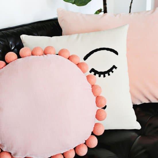 Round Felt Ball Pillow