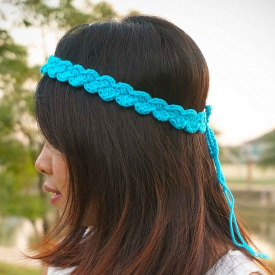 Crochet Shell Stitch Headband