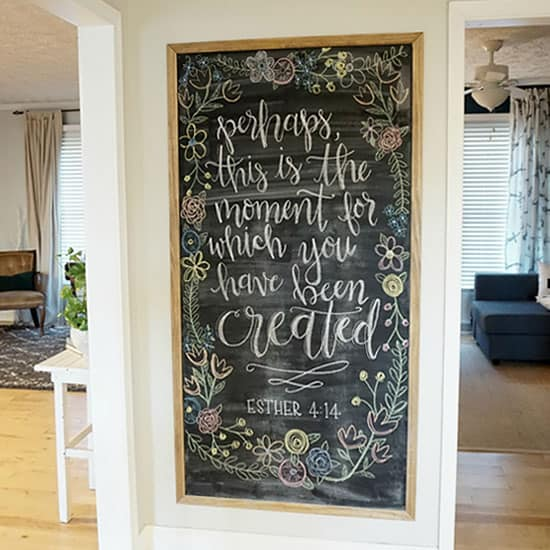 Large Framed Magnetic Chalk Board