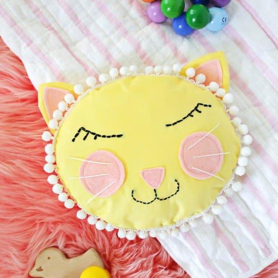Kitty Face Pillow