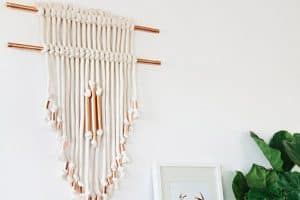 Copper Pipe and Rope Wall Hanging