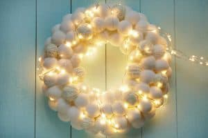 Pompom Flower Wreath