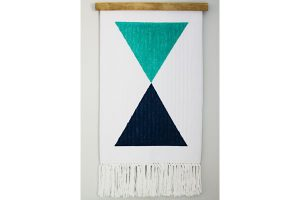 Repurposed Bathmat Wall Hanging