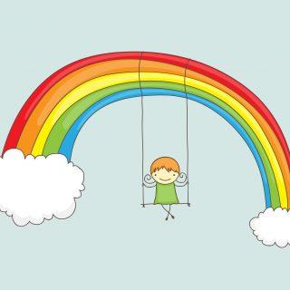 rainbow doodle art